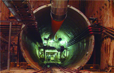Dirección de obra del túnel  del metro ligero de Izmir