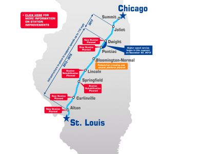 Corredor Chicago-St.Louis. Velocidad Alta.