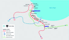 Plan du métro d'Alger