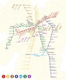 Chile: Metro de Santiago. Línea 3 y 6.