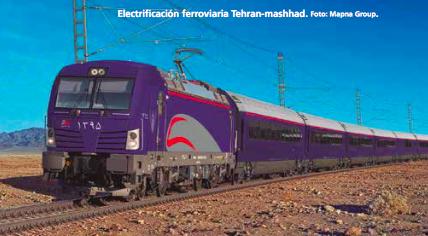 Nuevas líneas, planes de electrificación y duplicación de vía en Irán