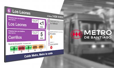Icon Multimedia implanta su sistema de información al viajero en metro de Santiago en Chile