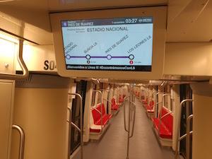 SICE mejora la experiencia de viaje de los usuarios de la Línea 6 de Metro de Santiago de Chile