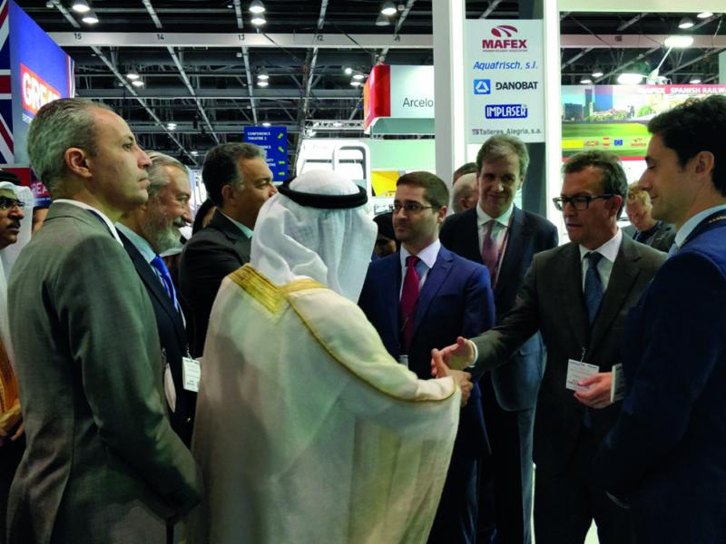 Destacada participación de empresas españolas en la feria Middle East Rail