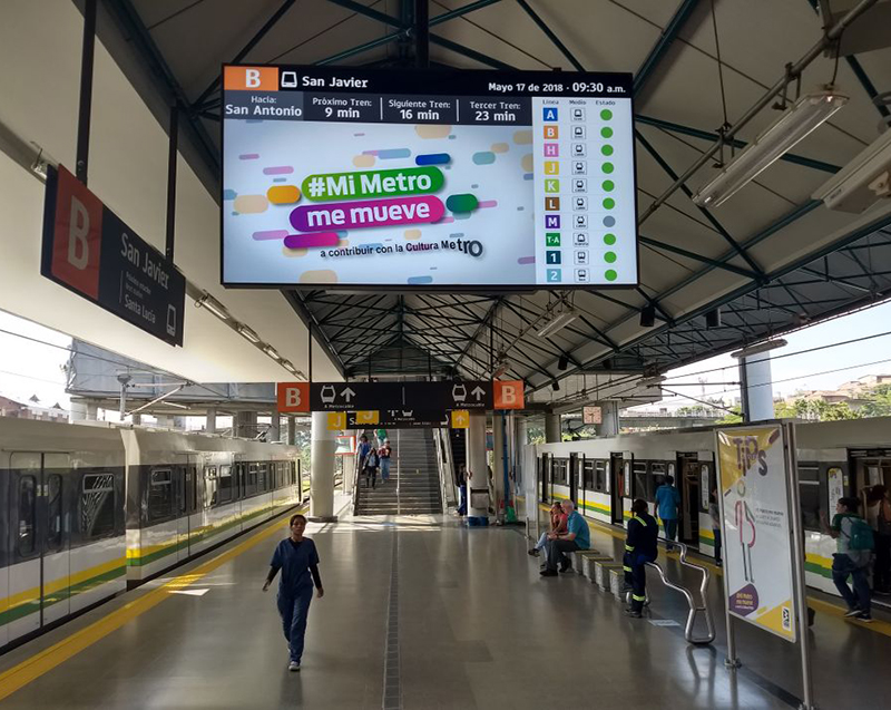 Icon Multimedia implanta su solución de información al viajero en la línea B de Metro Medellín