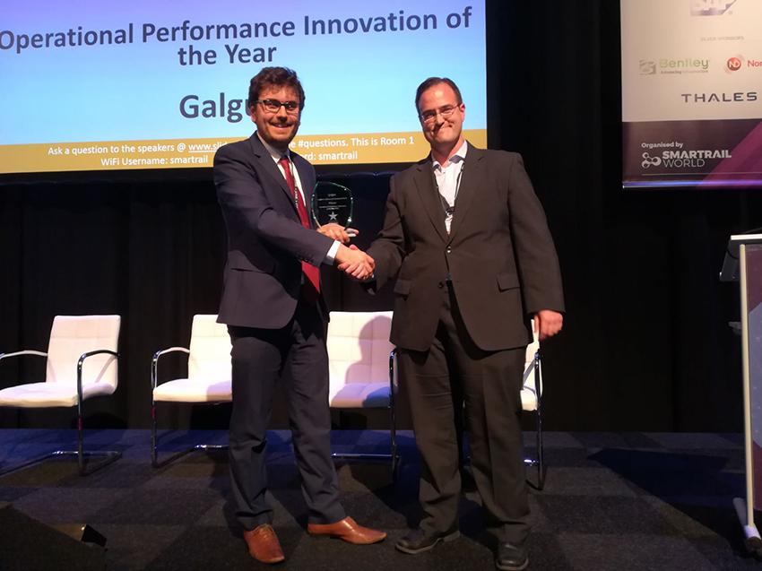 Galgus premiada en los SmartRail World Innovation Awards 2018