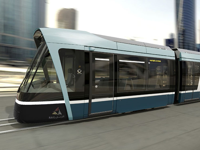 Alstom is shipping the first Citadis X05 trams for Lusail manufactured in Barcelona
