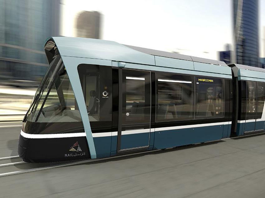 Alstom España envía la primera unidad del tranvía de Lusail fabricado en Barcelona