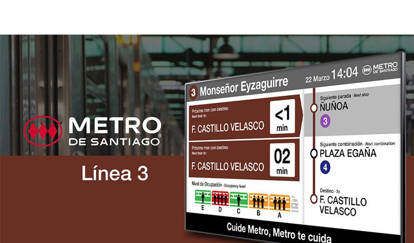 ICON Multimedia mejora la experiencia de los viajeros en la Línea 3 de Metro de Santiago de Chile